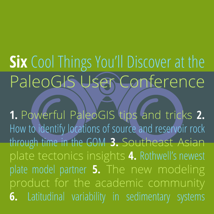 2014 PaleoGIS user conference infographic |  © The Rothwell Group, L.P.