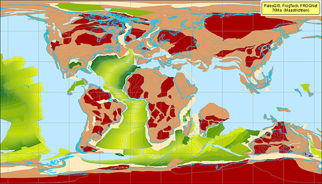PaleoGIS software application or app, for ESRI ArcGIS, now supports FROGTECH plate model, FROGNet