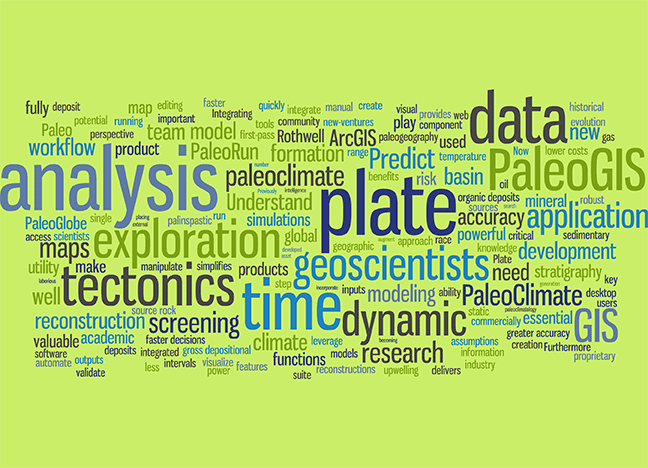 PaleoGIS word cloud